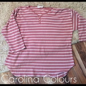 Vintage Carolina colours top